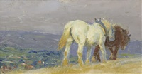 ploughing on the downs by lucy elizabeth kemp-welch