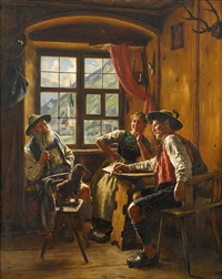 entertained in the tavern by emil rau