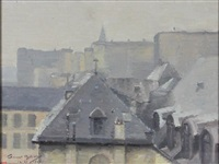 from my window paris by alfred gunnar bjareby