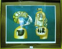 deux figures surréalistes by jules perahim