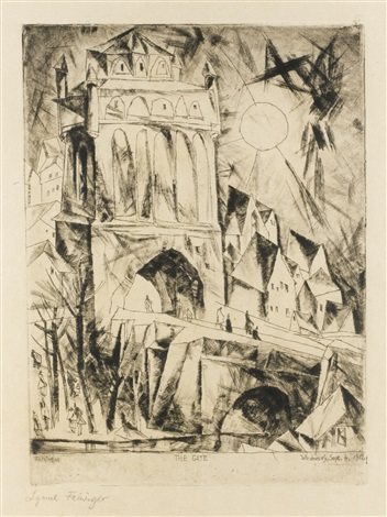 the gate dastor by lyonel feininger