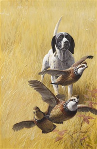 pointer and partridges by john walter scott