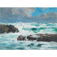 north westerly gale from the atlantic by francis william synge le maistre