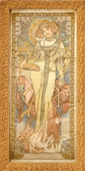 l'automne by alphonse mucha