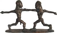 kobieta i mężczyzna w tańcu by sylwester ambroziak