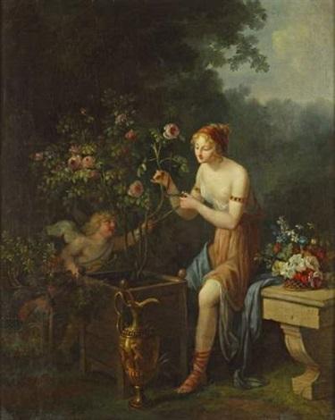 vénus et lamour jardinant by marguerite gérard