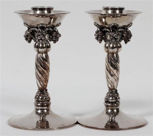 candlesticks by georg jensen co