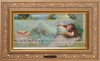 reclining nude by norman prescott davies