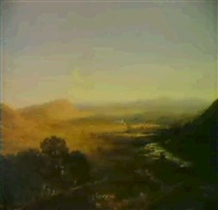 landscape with the vale of towy by h. smythe