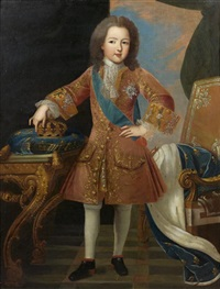 portrait du roi louis xv enfant by pierre gobert