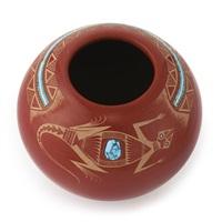 san ildefonso redware bowl by tony da
