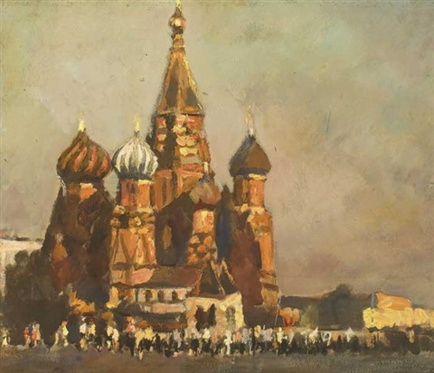 red square moscow by konstantin mikhailovich antonov