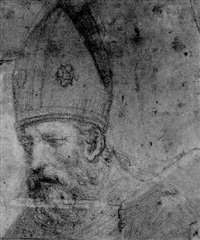 the head of a bishop by michelangelo anselmi