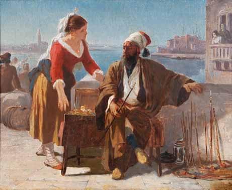 le marchand turc by prosper georges antoine marilhat