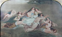 water nymphs and a blonde maiden by william warman