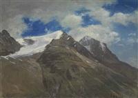 peaks in the rockies by albert bierstadt