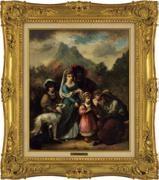 女占師とジプシーの家族, 1873