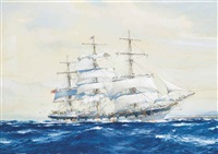 the emigrant ship invercargill off fairoa head, new zealand by john robert charles spurling