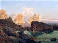 paesaggio di capri by karl august lindemann-frommel