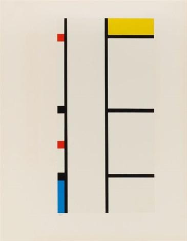 verticale rouge, bleue, jaune (from portfolio of 12) by piet mondrian