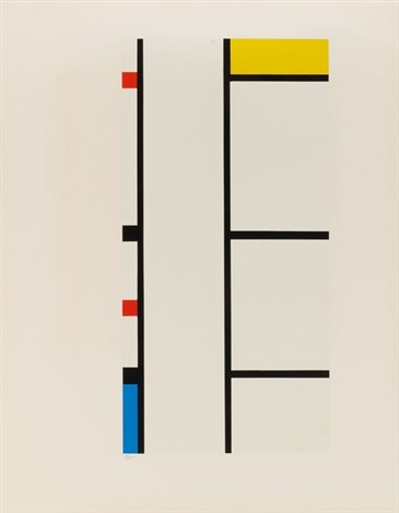 verticale rouge bleue jaune from portfolio of 12 by piet mondrian
