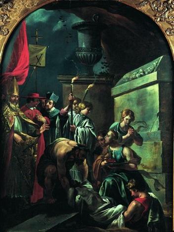 la mise au tombeau de saint poncien by jean baptiste corneille