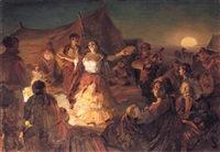 gypsy dance by alexander petrovitch sokolov