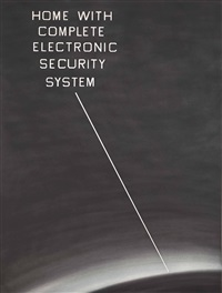 home with complete electronic security system by ed ruscha