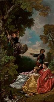 la balançoire by camille joseph etienne roqueplan