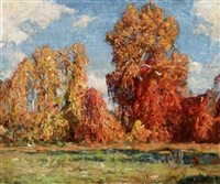 fall landscape by ernest bruce nelson