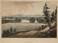 view near sandy hill, pl.7 (from hudson river portfolio, after william guy wall) by john hill