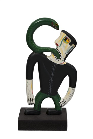 man with snake by norman clive catherine