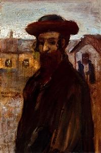 young rabbi (rabbi of munkács) by lajos gulácsy