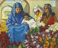 les vendeuses de fleurs by odette quizet-michy