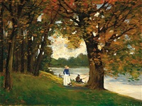 summer by the river by erno (ernst) marko