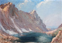 lac dans le massif de belledonne by etienne albrieux