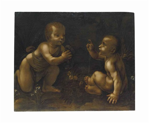 the meeting of christ and the infant saint john the baptist by leonardo da vinci