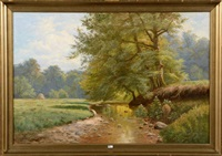 clairière au ruisseau by jose maria jardines