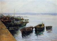 barcos en el muelle by joan soler tobella