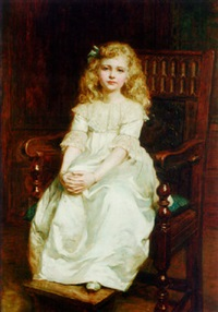 portrait of miss gwemforyd gladys redwood by hugh goldwin riviere