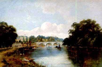 richmond bridge thames by m allan