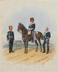 officers of the royal artillery by richard simkin