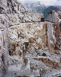 carrara marble quarries #26, carrara, italy by edward burtynsky