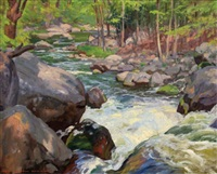 wooded stream by john newton howitt