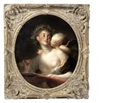 sappho inspired by cupid by jean honoré fragonard