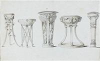 cinq études d'urnes d'après l'antique by anicet charles gabriel lemonnier