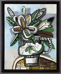magnolia in a vase i by david bates