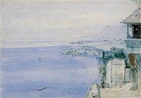 lake leman by john william inchbold