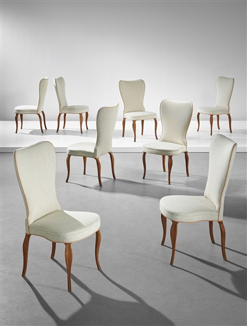 Rare Set Of Eight Dining Chairs, Designed For A Private Commission,  Copenhagen By Frits