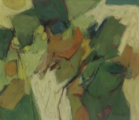 untitled green landscape by hale aspacio woodruff